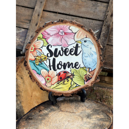 Fakorong sweet home - Méret: kb. 15-20cm átmérő