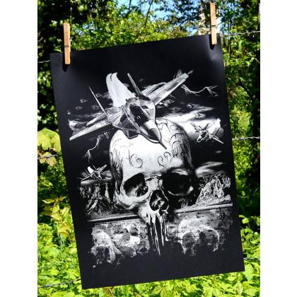 war fly szitanyomat 35cm x 50cm